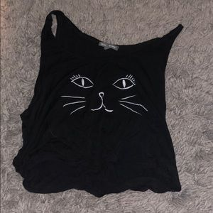 Tops - cat tank top